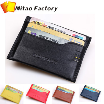Birthday Gift ! 2013 Fashion Design 100% Luxury Leather Credit & ID Holders Black Color With Key Case Gift Free Shipping