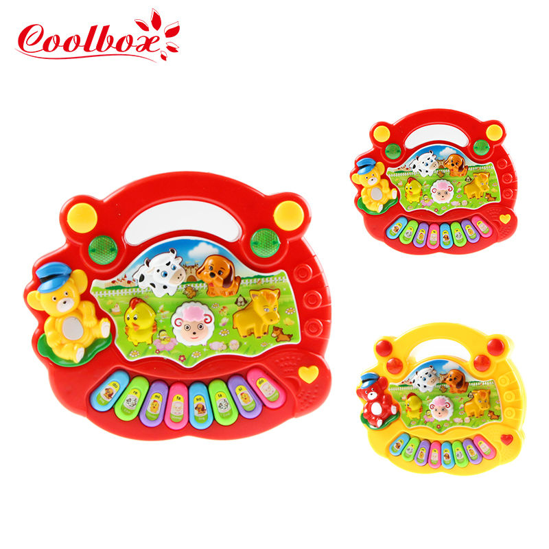 Coolbox CB5031 Wholesale Baby Kid's Animal Farm Mobile Piano Smart Music Toy Electric ENGLISH Early /Xmas Gift/Free shipping(China (Mainland))