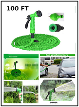 Garden Watering Hose Reels 100FT with Water Spray Gun Green Blue Expandable Magic X Hose 30M Garden Hose for Watering(China (Mainland))