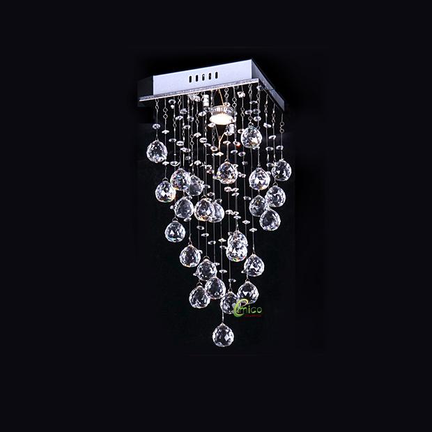 Modern Chandelier Crystal Lighting EM004-1 lamp size:dia25*H50cm warm color light bulb :GU10*50W - Factroy store
