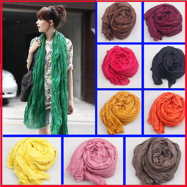 180 50CM New 2015 Fashion Women Scarf Candy Color Soft Shawl Scarves Female Cape 20 Colors