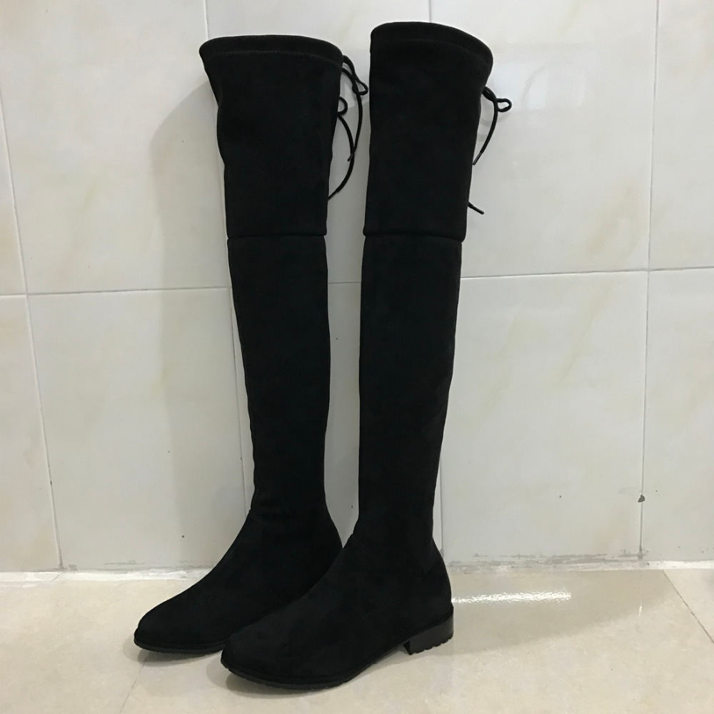 High Quality Thigh High Boots Flat-Buy Cheap Thigh High Boots Flat ...