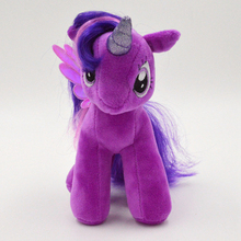 Free Shipping 19cm TV Rainbow MLP Little Hourse Toys Soft Twilight Sparkle Stuffed Plush Toys For Children(China (Mainland))