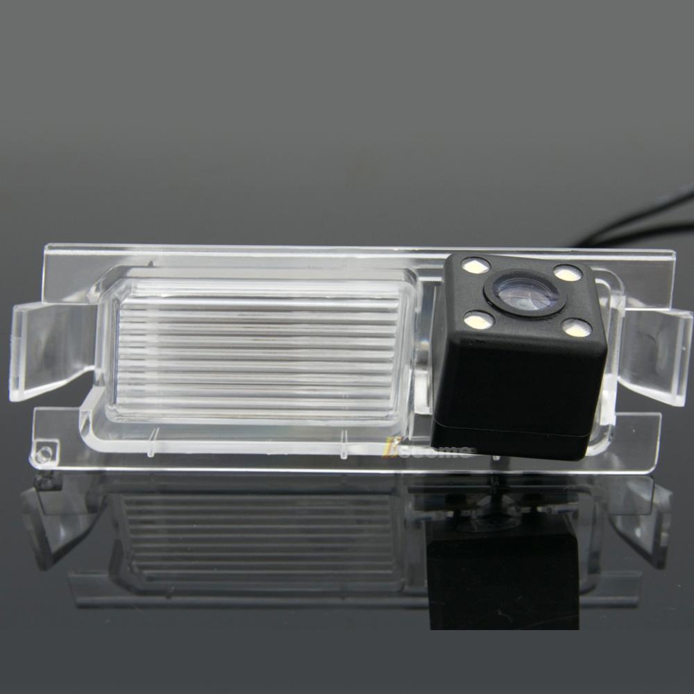 Waterproof 0Lux/ 4 LED Rear view Camera BackUp Reverse Parking Camera for HYUNDAI Accent Car 8155LED(China (Mainland))