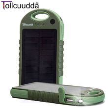 Tollcuudda Solar Powerbank Mobile Battery Charger Power Bank Portable Usb Led Poverbank 12000mAH Big Xiaomi Iphone Cell - Shenzhen Ehomelink Technology Co., LTD store