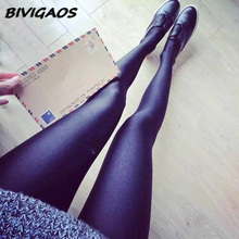 Buy 2016 New Chinlon Lustrous Black Leggings Women's High Elastic Shaping Pants Skinny Slim Leggings Sexy Workout Leggings Women for $6.69 in AliExpress store