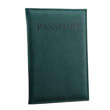 Aelicy твердый Дорожный Кожаный чехол для паспорта с отделением для карт, чехол Защитная крышка, кошелек, Тонкий Повседневный паспорт, книга дл...(China)