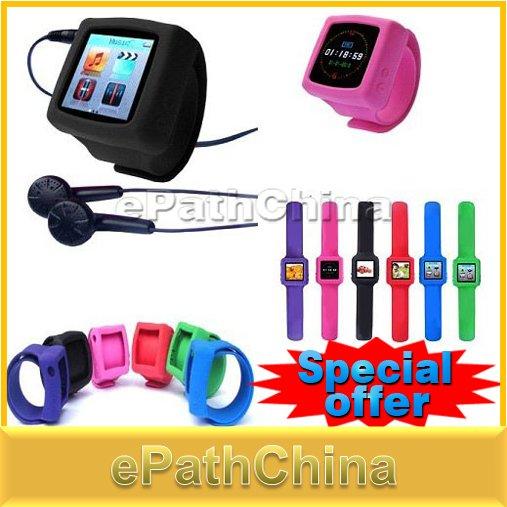 Fashion Sport Plastic Multifunctional Digital MP3 MP4 Player Wrist Watch For Men Women with FM Radio E-Book(China (Mainland))