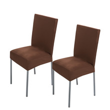 2 Pieces Brown Polyester Spandex Dining Chair Covers For Wedding Party Chair Cover Dining Chair Seat Covers 12 Solid Colors X60(China (Mainland))