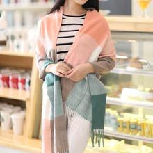 2016 New Spring Autumn Print Large Size Adult Long Design Cotton Scarf Women Winter Oversized Towel Wraps Long Lace Shawl Scarfs(China (Mainland))
