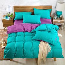 Flower gift] 2016 new comforter bedding duvet cover bed sheet set solid color bedspread bed linen king super king bed cover(China (Mainland))