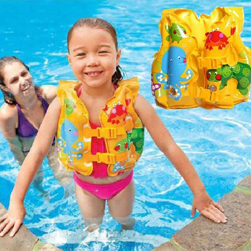 Baby Inflatable Float Pool Beach Life Jacket Kid Swim Safe Vest Trainer Infant Swimming Safety Aid Suit Life-Saving(China (Mainland))