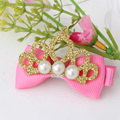Cute Style Hair Accessory New Pattern Glitter Pearl Baby Accessories Girl Hollow Crown Hairpin Kids Barrette