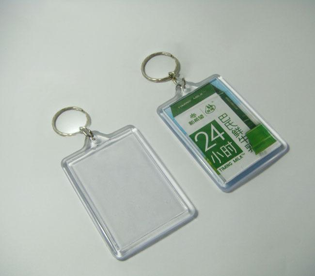 "1000pcs Bigger Blank Acrylic Rectangle Photo Keychains Insert Picture &Logo Keyrings (Key tag) 2.25""x 1.25"" -DHL Free Shipping(China (Mainland))"