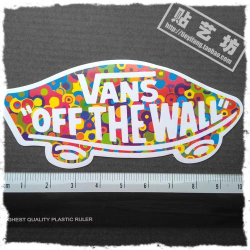 Vans skateboard PVC waterproof car stickers refrigerator sliding plate travelling box sticker(China (Mainland))