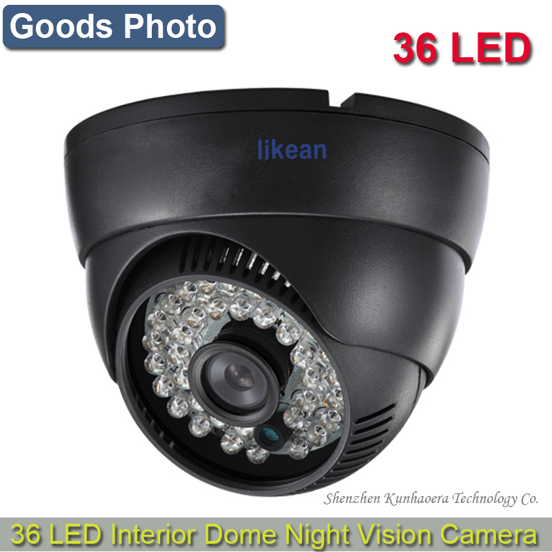 LIKEAN New Products 700TVL CMOS with IR-CUT Filter Switch 36pcs IR leds Day/night indoor CCTV camera with bracket free shpping(China (Mainland))