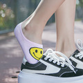 New 3D Smiling face Socks Women Fashion personality Printing women s Cotton Invisible Socks Funny Low