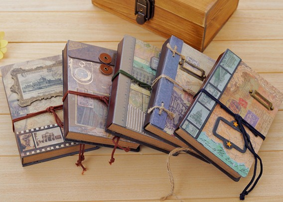 New sweet Vintage Memory frame Craft kraft paper notebook hand cover book DIY Journal Notepads agenda Gift - HY Global store