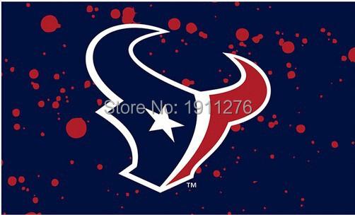 3X5FT NFL Houston Texans spot flag banner metal Grommets Free Shipping custom flag 100D Digital Print(China (Mainland))