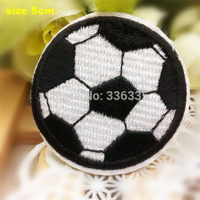 Free Shipping 10 pcs Football cartoon Embroidered patch iron on Motif sew on iron on Applique DIY accessory(China (Mainland))