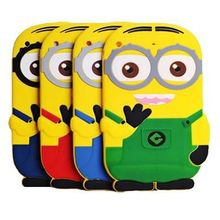 Soft Cute Cartoon tablet PC Accessory for Apple iPad mini 3 2 1 Despicable Me Minion Rush Silicone protective Back Cases Cover(China (Mainland))
