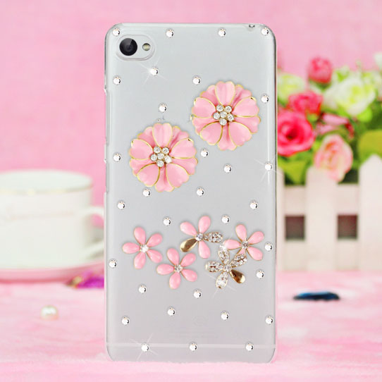 diy rhinestone crystal plastic mobile phone bag case cover for htc Desire 620 820 Mini/One ME/Butterfly 3/one A9/X9/828/530 case(China (Mainland))
