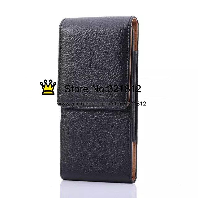 Universal Leechee Holster PU Hip Leather Case For Iphone 6 6G Plus 5.5 / For Samsung Galaxy Note4 Note 4 Clip Belt Pouch 5pcs(China (Mainland))