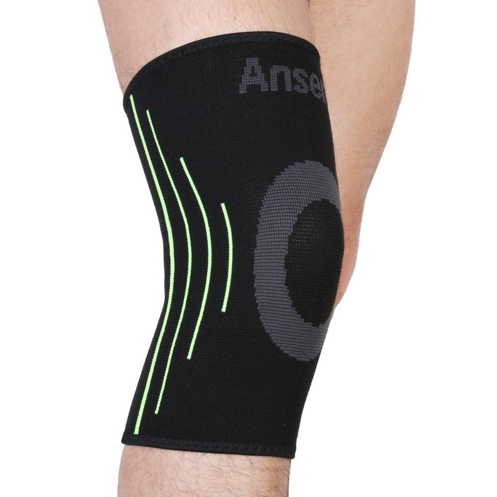 Elastic Sports Leg Knee Support Brace Wrap Protector Knee Pads Kneepads Sleeve Cap Patella Guard Volleyball Knee Black - 1PCS(China (Mainland))