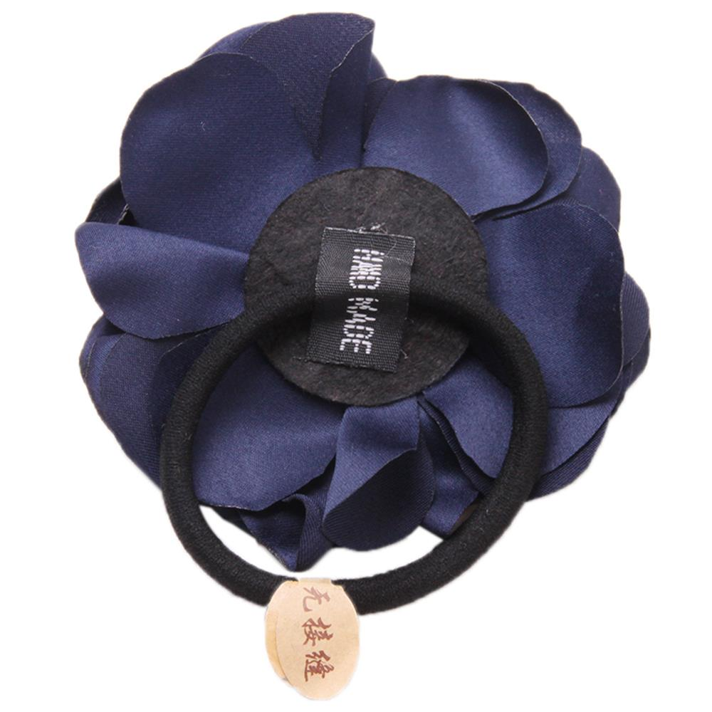 Beauty Women Headband Hair Ties Ropes Rose Camellias Rubber Bands Fashion Hair Accessories(China (Mainland))