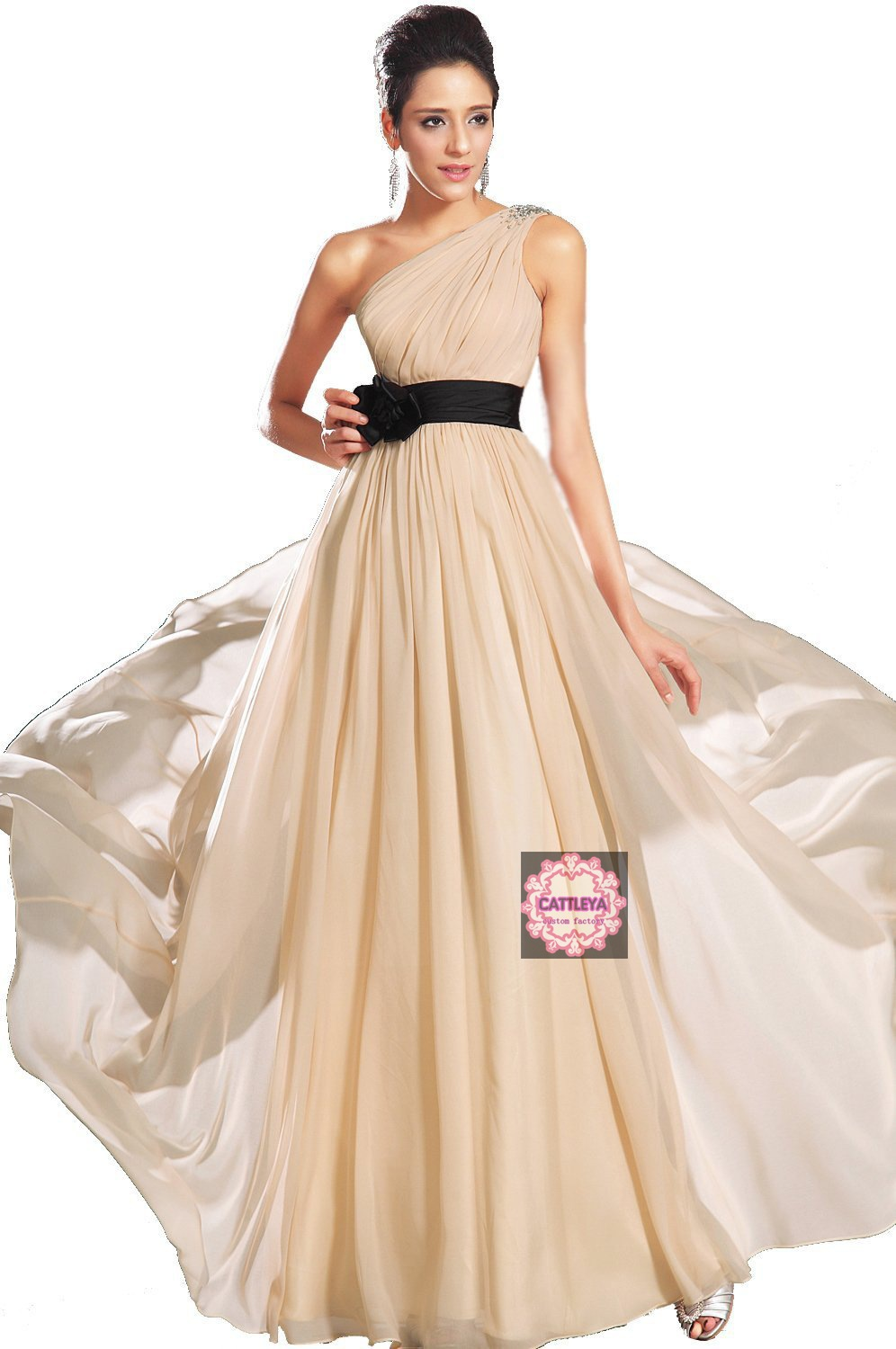 2013 sexy gowns one shoulder chiffon dress wedding dress ...