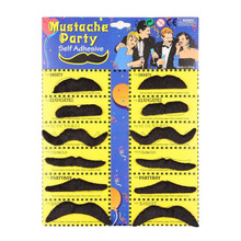 12pcs Fake Moustaches Self Adhesive Mustaches Fancy Dress Party Fun Rogue boy Newest(China (Mainland))