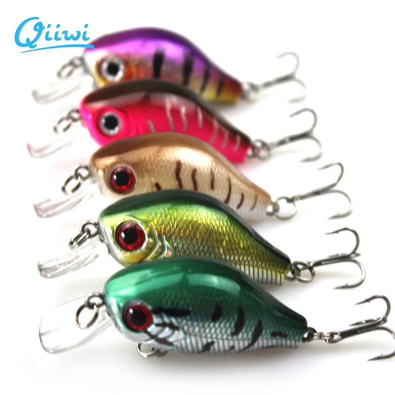 5PCS/lot 7.5cm 8.5 g Fishing Lure Minnow Hard Bait with 3 Fishing Hooks Fishing Tackle Lure Deep Crank bait Fishing Lures()