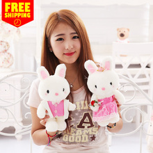 Free shipping Wedding rabbit plush Toys Simulation cartoon Car baby doll birthday gift delivery Factory direct quality assurance