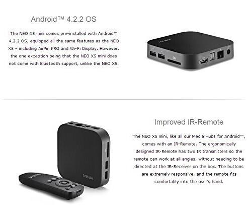 Hot Sale MINIX NEO X5 Mini Andriod TV Box Dual Core RK3066 1GB/ 8GB WiFi RJ45