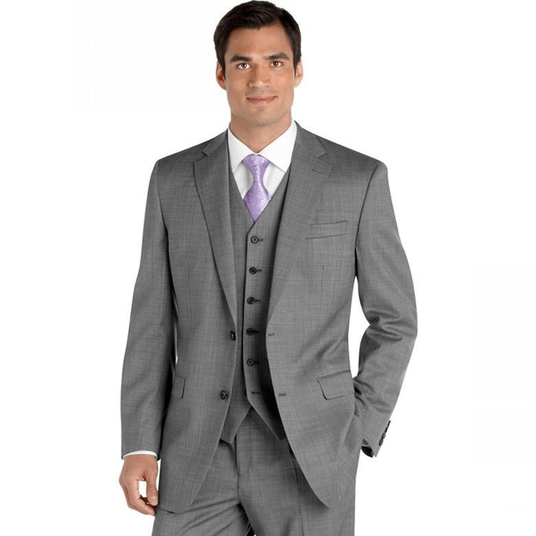 Design Wedding Tuxedo Vests Smart Light Grey Groom Tuxedos