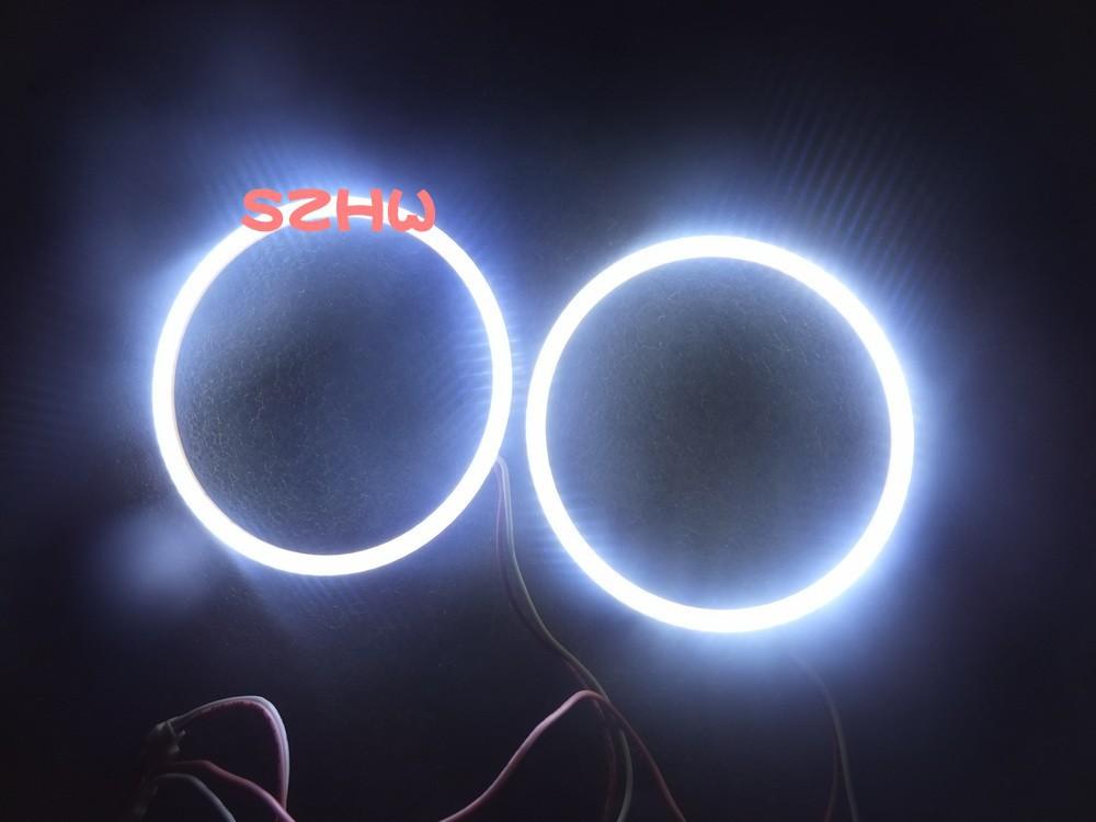 90mm EXT. diameter, 2pcs/lot ,Super Bright Waterproof LED Angel Eyes Rings, COB Lens, Q5 Hella, Big Lamp, Car Decorative Lights(China (Mainland))