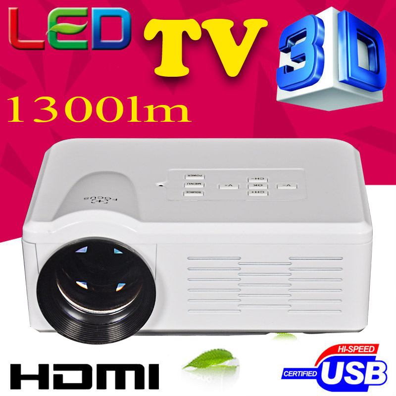 Big discount BLH 1300lumens 1080P HD Home Theater 3D Cinema HDMI USB Video Game LED Mini Projector beamer lcd proektor