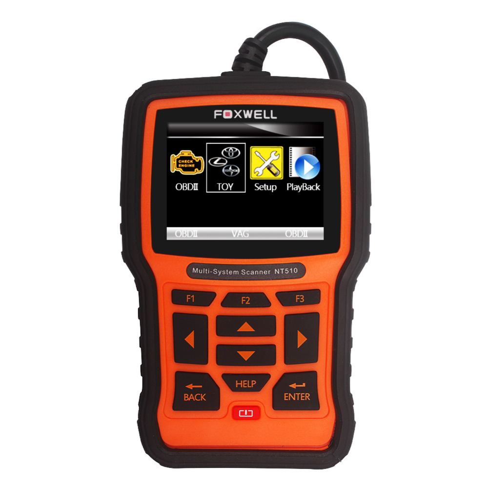 Professional OBD2 Scanner Foxwell NT510 For Toyota Lexus Sicon Airbag Air Bag Crash Data Reset ABS Engine Code Reader(China (Mainland))