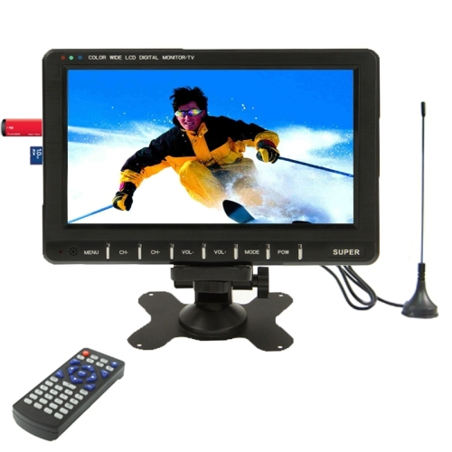 9.8 inch Wide LCD Car mini monitor/ Analog TV with FM Radio, Support SD/MMC Card, USB flash disk(China (Mainland))