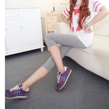 Free shipping new large size modal multicolor colorful leggings long seventh(China (Mainland))