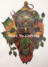 2016 Hot Sale Da Moda 21X15 CM Colorido CORUJA Tatuagem Temporária Etiquetas Da Arte Corporal Temporária À Prova D' Água #43