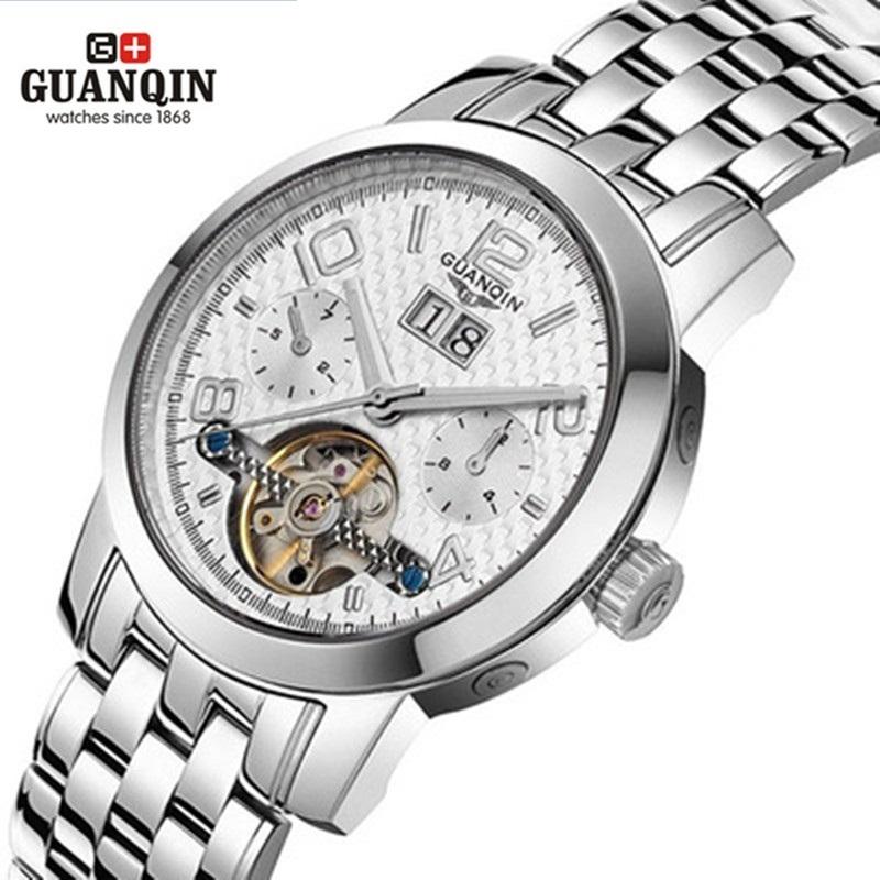 Фотография Original Brand GUANQIN Watch Tourbillon Luxury Sapphire 100m Waterproof Watches Men Fashion Mechanical Sale Watch for Men Clock