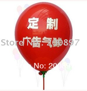 custom Logo Printing Advertising balloons latex promotion balloons with sticks 1000pcs/lot(China (Mainland))