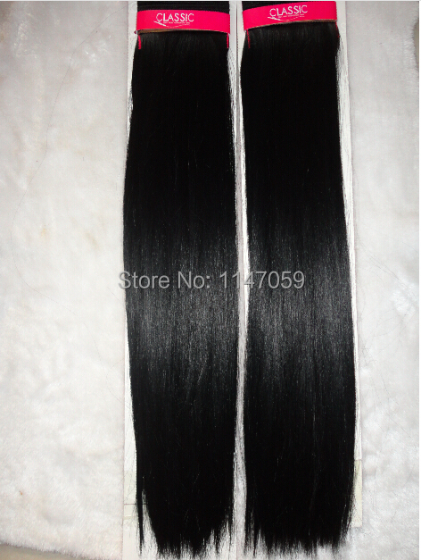 Free Shipping (3pcs/lot)synthetic hair weaves black silky straight iron safety 20inches braid hair extension(China (Mainland))