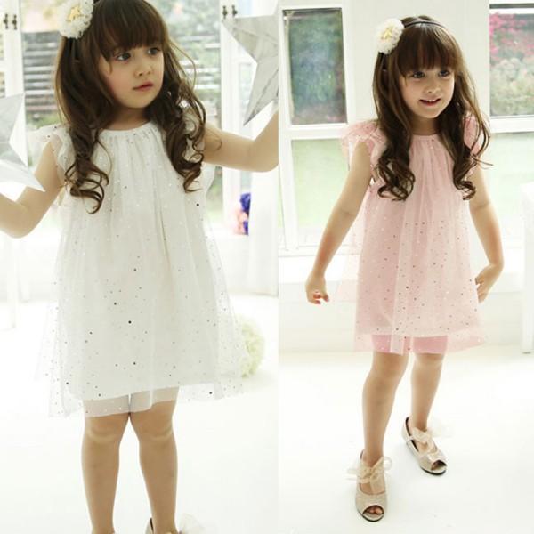 Baby Kid Girls Sleeveless Dress Gauze Sequins Dress Summer Party Tutu Dresses<br><br>Aliexpress