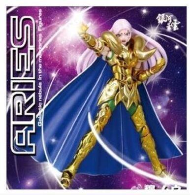Galactic Nebula Aries Mu Action Figure Saint Seiya Myth Cloth EX toy Cavaleiros do zodiaco with KIKI head and Metal horns(China (Mainland))