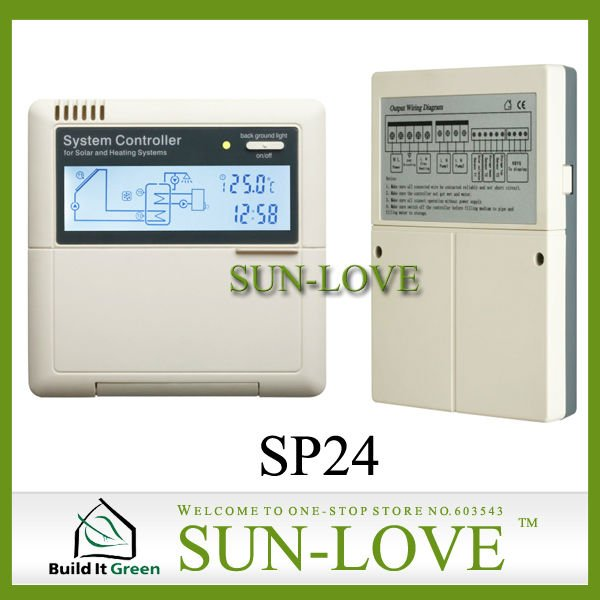 Intelligent Solar Water Heater Controller SP24,Thermal Solar Heating System Controller,LCD Network Fuction(China (Mainland))