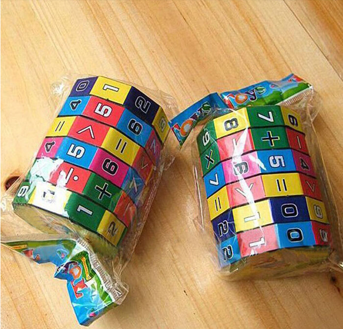 New 2PC Baby Children's Number Multi Activity magic Cube Math Educational Toy(China (Mainland))