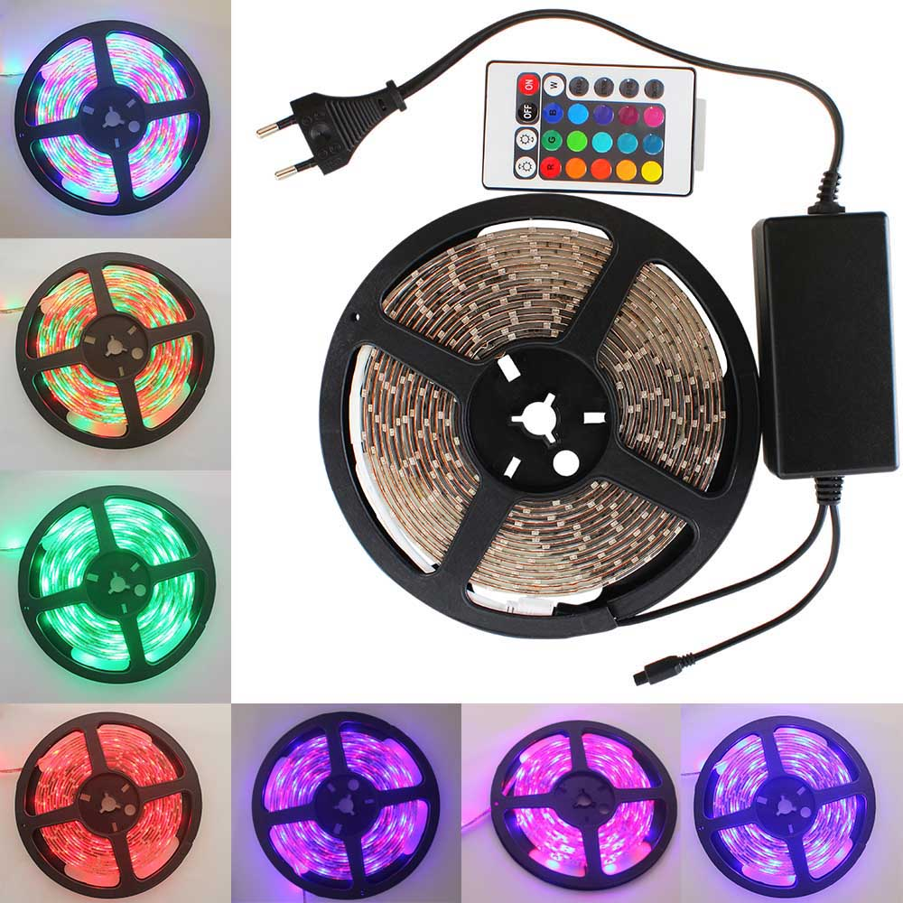 5m 3528 waterproof LED Strip RGB IP65 led stripe Light 12V 60LEDs/M outdoor lighting tiras led for christmas decoration CE RoHS(China (Mainland))