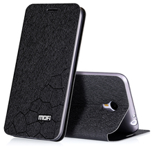 meizu m2 note phone cases flip meizu m2 note case leather inner metal front cover original MOFI stand case free shipping